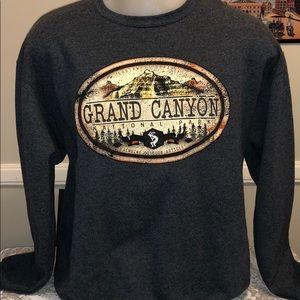 Men's Gray Grand Canyon Crewneck Sweater. Size L